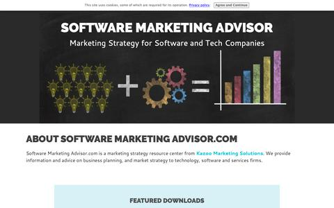 Screenshot of About Page software-marketing-advisor.com - About Software Marketing Advisor - captured Oct. 17, 2018