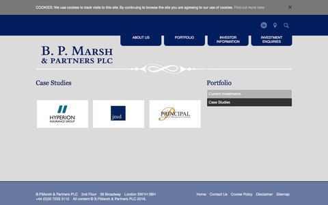 Screenshot of Case Studies Page bpmarsh.co.uk - Case studies   B.P. Marsh - captured Nov. 5, 2016
