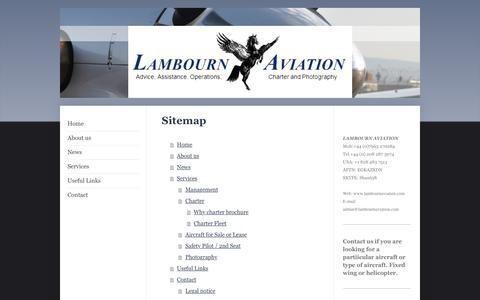 Screenshot of Site Map Page lambournaviation.com - Lambourn Aviation - Home - captured May 14, 2017