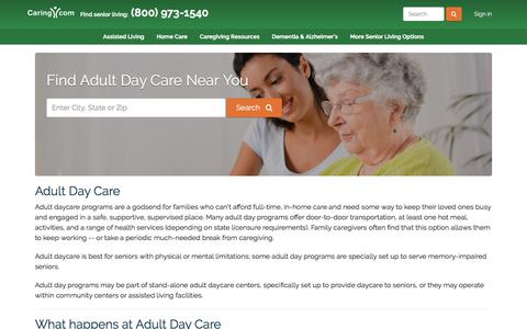 Screenshot of caring.com - Find Adult Day Care Near You - Caring.com - captured Dec. 26, 2017