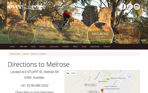 Screenshot of Maps & Directions Page otesports.com - Directions to Melrose - Over The Edge Sports - captured Nov. 30, 2016