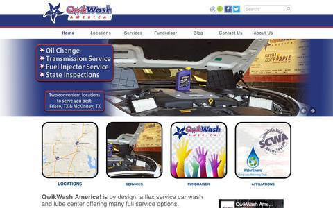 Screenshot of Home Page qwikwash.com - QwikWash America! - Home - captured Sept. 22, 2018
