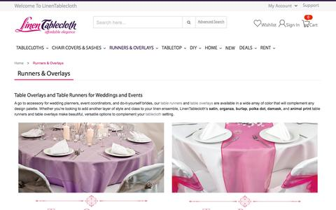 Buy Table Runners and Overlays for Weddings and Events