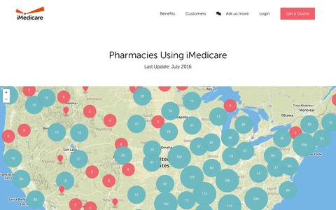 Screenshot of Maps & Directions Page imedicare.com - Map - captured July 3, 2016