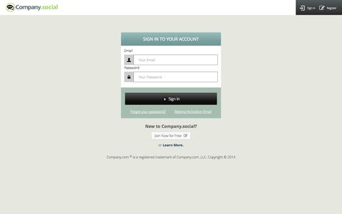 Screenshot of Login Page company.com - Company Social - Sign In - captured Oct. 30, 2014