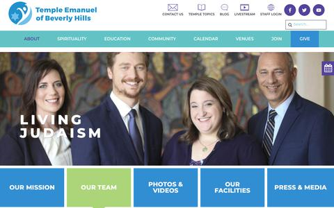 Screenshot of Team Page tebh.org - Our Team - Temple Emanuel Beverly Hills - captured Oct. 18, 2018