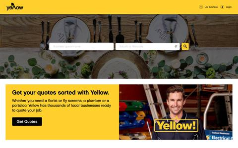 Screenshot of Home Page yellowpages.com.au - Yellow Pages® | Your Local Australian Business Directory - captured Sept. 20, 2018