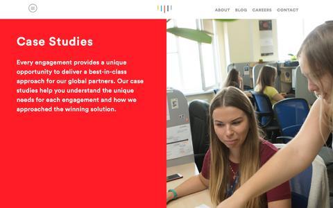 Screenshot of Case Studies Page intego-group.com - Intego Group - Dedicated Programming Teams in Eastern Europe | Software Development, Biometrics, Functional Service Provider in Ukraine - captured Oct. 12, 2018