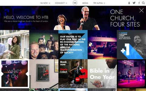 Screenshot of Home Page htb.org.uk - HTB Church - captured Oct. 1, 2014