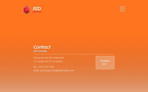 Screenshot of Contact Page atdemolda.com - Contact - atdatd - captured July 5, 2018