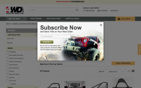 Jeep Front Bumpers - Wrangler Front Bumpers, DVB Bumpers, Jeep Front Bars | 4WD.com