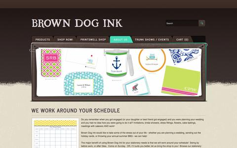 Screenshot of About Page sitandstaytionery.com - About Us - Brown Dog Ink - captured Oct. 5, 2014