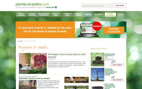 Magazine et conseils | Plantes et Jardins