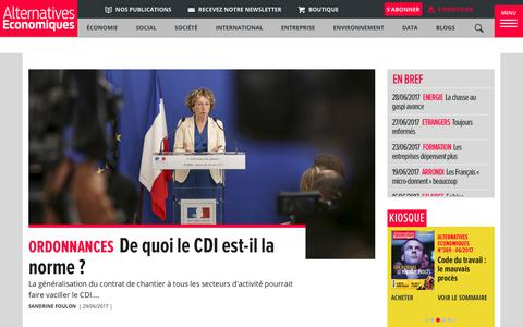 Screenshot of Home Page alternatives-economiques.fr - Alternatives Economiques - captured June 30, 2017