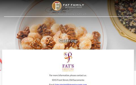 Screenshot of Menu Page fatsrestaurants.com - Catering – Fat Family Restaurant Group - captured Oct. 10, 2018