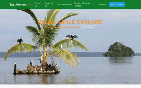 Screenshot of Home Page east-rennell.com - Enjoy East Rennell Holiday - captured July 5, 2018