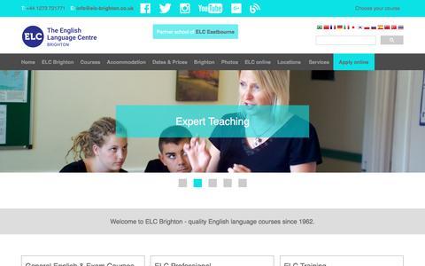 Screenshot of Home Page elc-brighton.co.uk - ELC English Language School Brighton | Learn English in England | English courses at ELC Brighton - captured Nov. 30, 2016