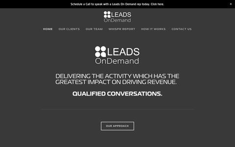 Screenshot of Home Page leadsondemandinc.com - Leads On Demand - captured March 22, 2019