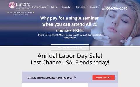 Pricing for all Workshops | Empire Medical Training