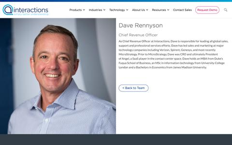Screenshot of Team Page interactions.com - Dave Rennyson - Interactions - captured Feb. 8, 2019