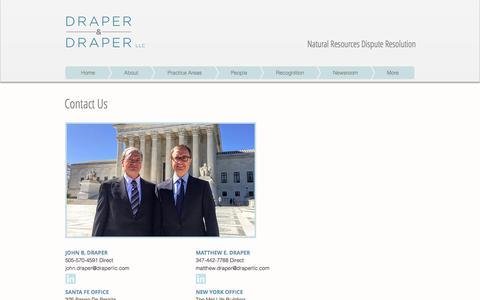 Screenshot of Contact Page draperllc.com - Contact Us | Draper & Draper LLC - captured Oct. 13, 2017