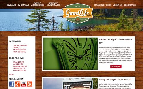 Screenshot of Blog glrv.com - Blog - captured Oct. 11, 2015