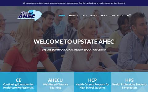 Screenshot of Home Page upstateahec.org - Upstate AHEC – Continuing Education for Healthcare Professionals - captured June 11, 2017