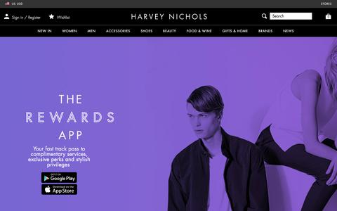 Screenshot of FAQ Page harveynichols.com - Rewards - Harvey Nichols - captured March 25, 2018