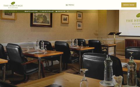 Screenshot of Testimonials Page theheritage.com - Meeting Rooms Ireland |Ireland Meeeting Rooms| The Heritage Killenard Hotel - captured Oct. 24, 2017