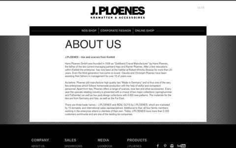 Screenshot of About Page jploenes.de - ABOUT US | JPLOENES - captured Oct. 3, 2014
