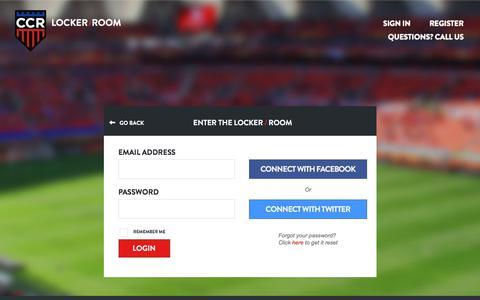 Screenshot of Login Page customcollegerecruiting.com - Login - captured April 3, 2018