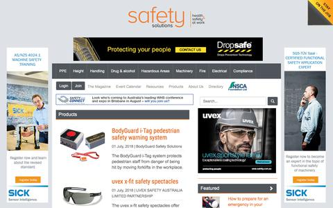 Screenshot of Products Page safetysolutions.net.au - Product Reviews  :: Safety Solutions - captured July 26, 2018