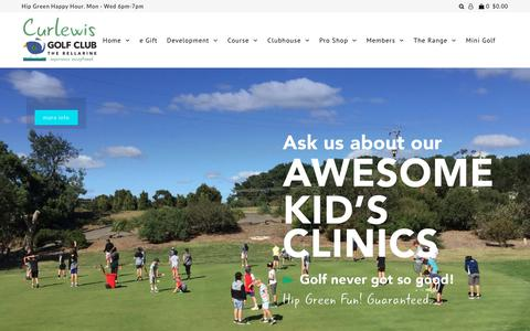 Screenshot of Home Page curlewisgolf.com.au - Curlewis Golf Club | The Range @ Curlewis | Bellarine Peninsula - captured Sept. 30, 2018