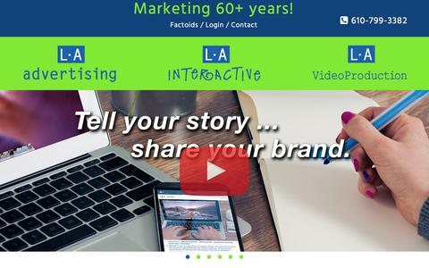 Screenshot of Home Page l-aadvertising.com - L•A Advertising, L•A Interactive & L•A Video Production | Lehigh Valley, Pennsylvania | Advertising and Marketing Communications - captured Dec. 19, 2017
