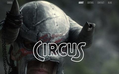 Screenshot of About Page thecircus.tv - ABOUT — Circus — Editing - captured Oct. 2, 2014