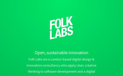Screenshot of Home Page folklabs.com - Home - Folk Labs - captured Aug. 16, 2018