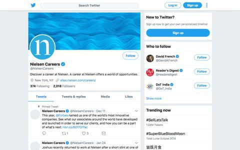 Tweets by Nielsen Careers (@NielsenCareers) – Twitter