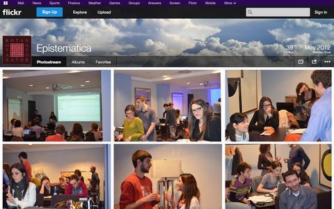 Screenshot of Flickr Page flickr.com - Flickr: Epistematica's Photostream - captured Oct. 23, 2014