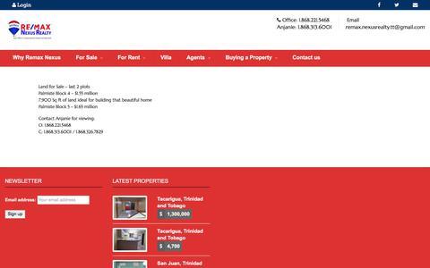 Screenshot of Login Page remax-nexusrealty-tt.com - Agent Login – Real Estate Trinidad Tobago - captured July 7, 2018