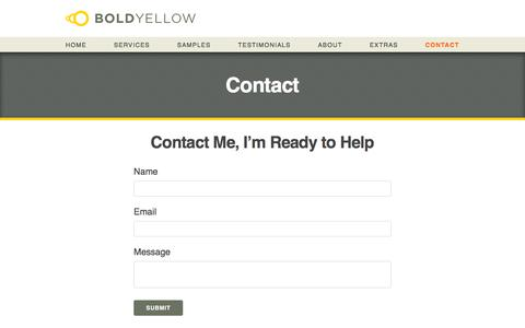 Screenshot of Contact Page boldyellow.com - Bold Yellow  | Contact - captured Aug. 3, 2018