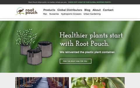 Screenshot of Home Page rootpouch.com - Root Pouch - captured Jan. 11, 2016