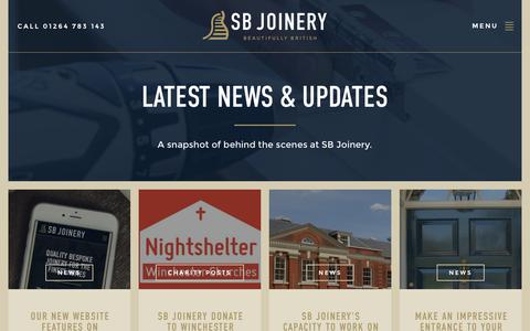 Screenshot of Press Page sbjdanebury.com - Latest News from SB Joinery - captured Feb. 3, 2016