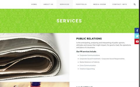 Screenshot of Services Page take-note.co.za - SERVICES | Take Note - captured Nov. 28, 2016