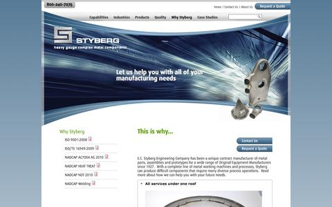 Screenshot of Services Page styberg.com - Concurrent Engineering & Metal Prototyping | EC Styberg - captured Oct. 1, 2014