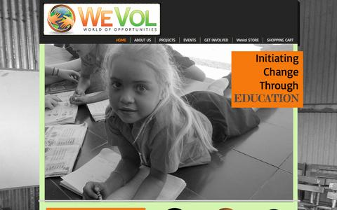 Screenshot of Contact Page wevol.org - WeVol Inc. - captured Oct. 26, 2014