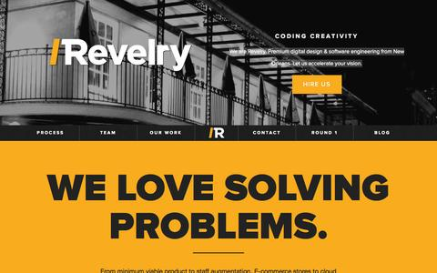 Screenshot of Home Page revelry.co - Revelry Labs - captured Oct. 8, 2014
