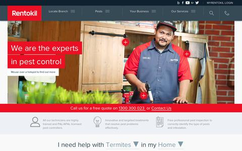 Screenshot of Home Page rentokil.com.my - Rentokil Pest Control Malaysia - Your Local Pest Control Expert - captured Nov. 9, 2017