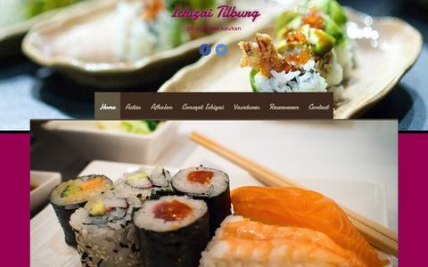 Screenshot of Home Page oboncoin.nl - Ichizai Tilburg - De wereldse keuken - captured March 1, 2016