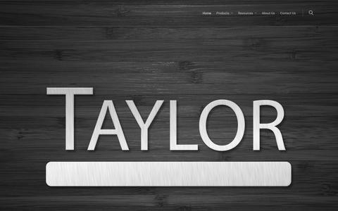 Screenshot of Home Page wftaylor.com - Taylor – Flooring Adhesives - captured Oct. 18, 2017