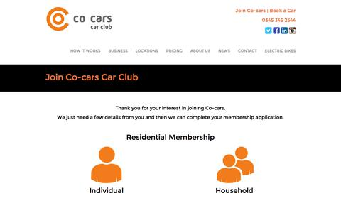 Screenshot of Signup Page co-cars.co.uk - Join Co-cars - Co-carsCo-cars - captured Sept. 20, 2017